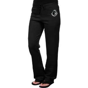NCAA Wofford Terriers Ladies Black Logo Applique Sweatpant