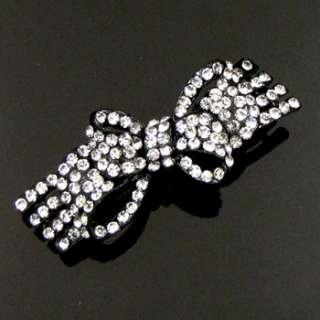 ADDL Item , 1 pc rhinestone crystal bow tie hair