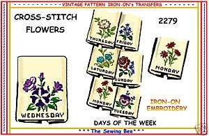 2279 Embroidery Transfers Cross Stitch Flowers patterns