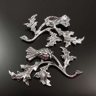 Antiqued Style Silver Tone Alloy Leaf Bird Pendants Charms 47*32*2mm