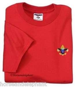 Boy Scout Red t shirt Class B shirt BSA emblem New