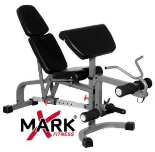 XMark FID Weight Bench Leg Curl Preacher Curl XM 4419