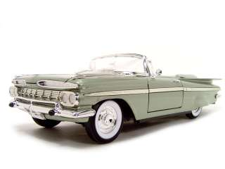 1959 CHEVY IMPALA CONVERTIBLE GREEN 118 DIECAST MODEL