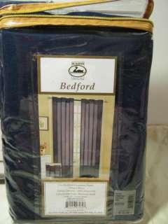 DUCK RIVER Textile BEDFORD GROMMET Window PANEL INDIGO NAVY 56x84 NIP