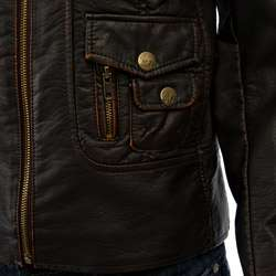 Miss Sixty Womens Faux Leather Motorcycle Jacket
