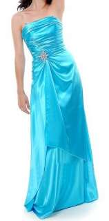 This gorgeous long full length strapless evening bridesmaid/prom dress