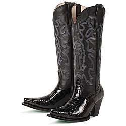 Lane Boots Womens Dundee Noir Leather Boots