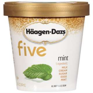 Haagen Dazs Five Mint Ice Cream, 14 oz Frozen Foods