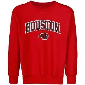 Houston Cougars Stuff  Houston Cougars Youth Logo Arch Applique Crew