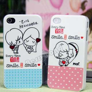 New 2pcs Lover Couple Heart Case Cover for Apple iPhone 4 4S