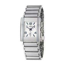 Mens Integral Stainless Steel/ Ceramic Quartz Watch