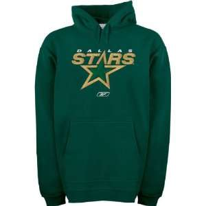 Dallas Stars Official Logo Patch Hooded Fleece Sweatshirt