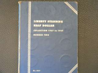Two Partially Filled Whitman Books Liberty Standing Half Dollars 1916