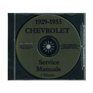 1929 1930 1931 1932 1933 CHEVY PICKUP RUCK Service Manual