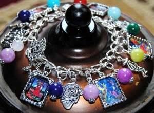 THE DEAD Dia de los muertos Mexican Gemstone Charm Bracelet #2