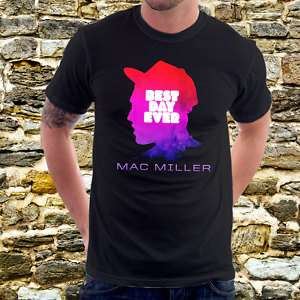 BEST DAY EVER Mac Miller T Shirt Rap Hip Hop Tee A5B