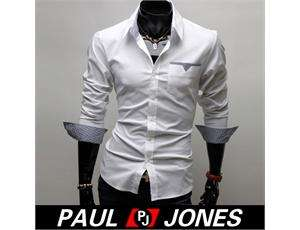 COOL BOY Men's Casual Slim line Stylish Dress Shirts Blouse in