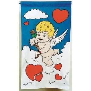 48 Cupid Valentines Day Applique Flag Patio, Lawn & Garden