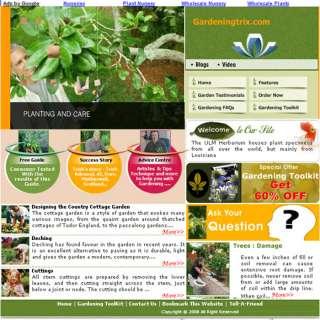 Money Making Turnkey Gardening Adsense Website 4 Sale