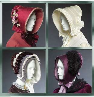 Ladies English Bonnet/Hat PATTERN Civil War/Victorian