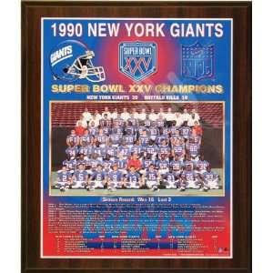 1990 New York Giants NFL Football Super Bowl 25 XXV
