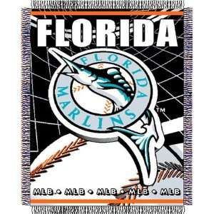 Florida Marlins Major League Baseball Woven Jacquard Throw