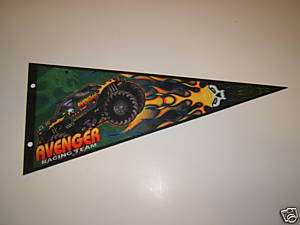 MONSTER JAM AVENGER MONSTER TRUCK PENNANT FLAG