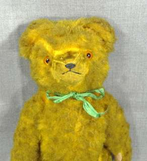 HERMANN STRAW STUFFED MOHAIR PLUSH TEDDY BEAR JOINTED TOY