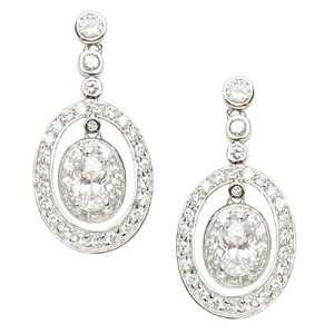 Studio 925 Metropolitan Oval Diamond CZ Sterling Silver