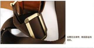 New Brand Brown Genuine Leather Men Messenger Bag 05826