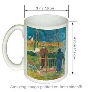 Paul Gauguin Art COFFEE MUG Bonjour Monsi Gauguin