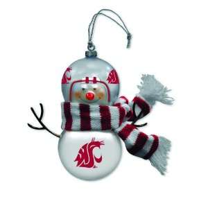 Washington State Blown Glass Snowman Ornament (Set of 2)