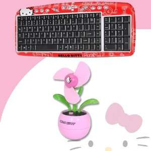 Hello Kitty USB Keyboard with Hot Keys #90309 RED (Red