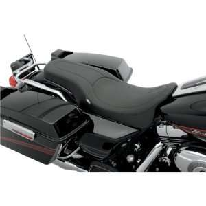 Drag Specialties Black Stitch Spoon Style Motorcycle Seat For Harley