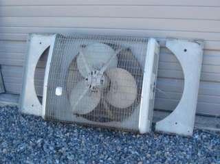 Montgomery Ward Commercial Window Box Fan 3 Speed Reversible |