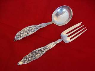 LILY OF THE VALLEY BY WHITING STERLING SILVER FLATWARE SET SERVICE