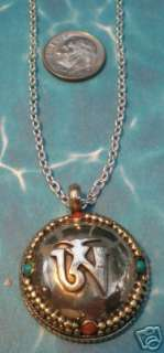Tibetan Silver Om Ohm Bubble Pendant Necklace Jewelry D