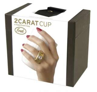 Carat Coffee Tea Cup Mug Gold Ring   Novelty Gift