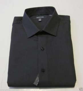 Kenneth Cole Mens Slim Fit Gray Dress Shirt 17 32 33