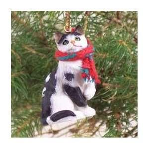 Black & White Tabby Cat Ornament