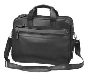 inches leather airport TSA security check point laptop brief case bag