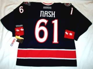 RICK NASH size MEDIUM Columbus Blue Jackets CCM 550 Jersey   blue