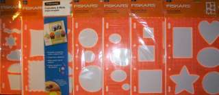 VARIOUS FISKARS SHAPE TEMPLATES~SHAPES/CUPCAKES/FRAMES/ECT.