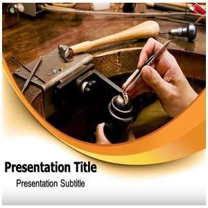 Goldsmith PowerPoint Template   Backgrounds on PowerPoint
