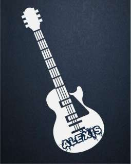 Custom Name Guitar Rock Kids Wall Home Decor Decal