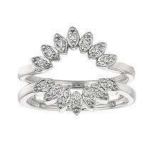 14 ct. t.w. Round Cut Diamond Ring Guard (I, I1)