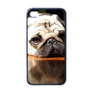 Pug Puppy Dog Black Apple iphone 4 Case