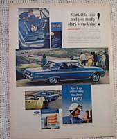FORD GALAXY 500/XL RACE CARS. OLD VINTAGE AD 1962