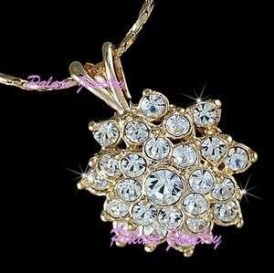 Pendant Necklace 18K Gold use Swarovski Crystals N214