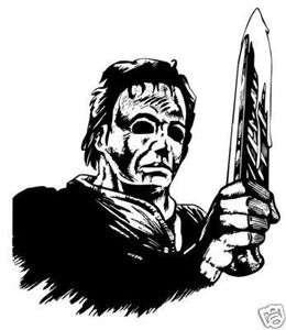 michael myers decal sticker halloween